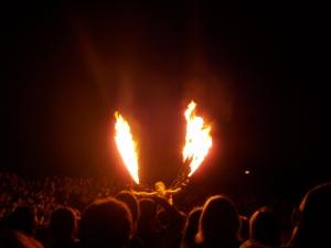 Trix eldshow på Gotland, augusti 2008.